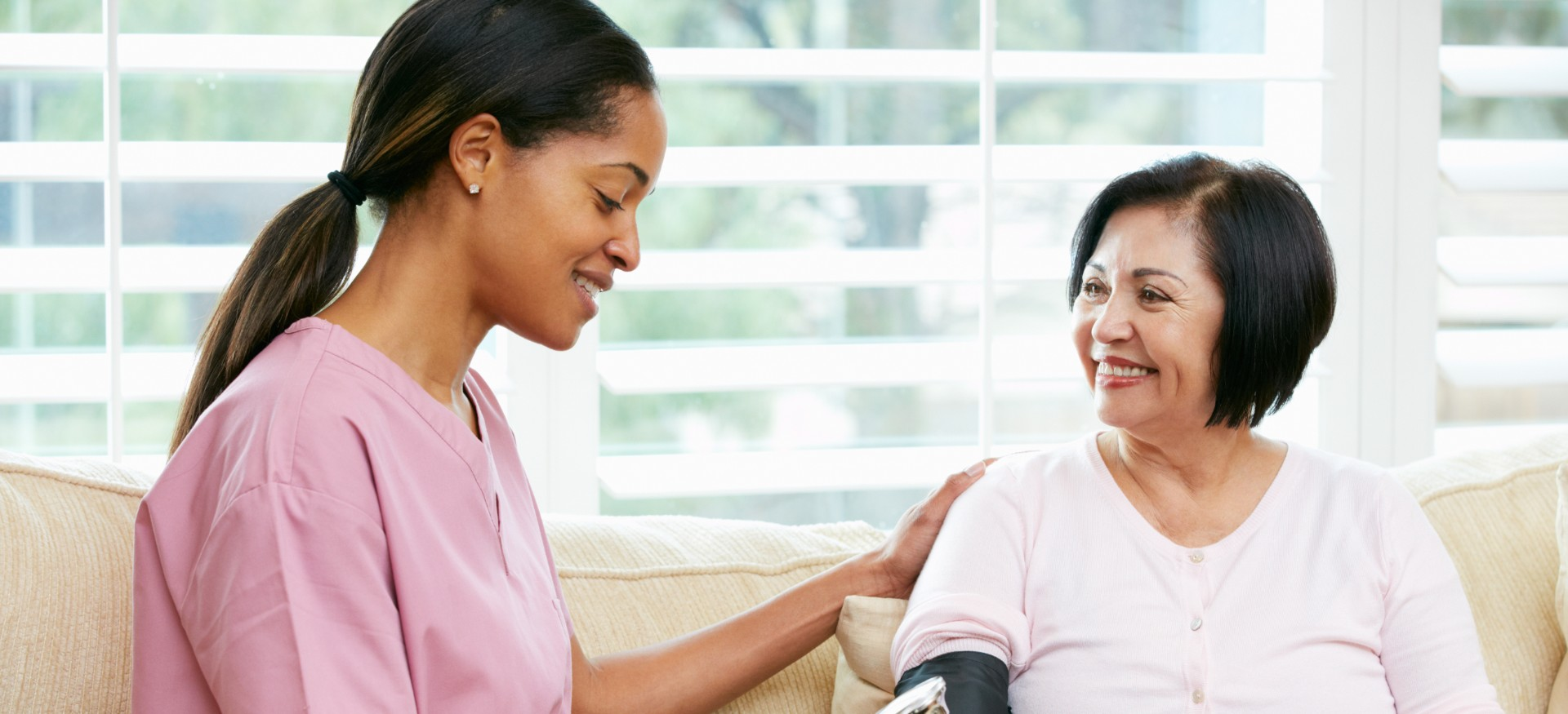 National Nursing and Rehab nurse with patient in home